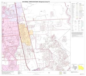 Primary view of object titled '2010 Census County Block Map: Montgomery County, Block 38'.