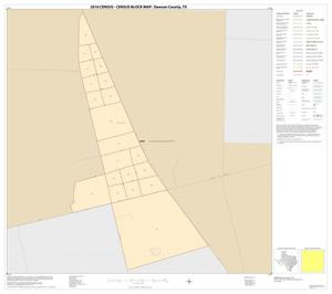 Primary view of object titled '2010 Census County Block Map: Dawson County, Inset A01'.