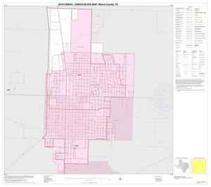 Primary view of object titled '2010 Census County Block Map: Moore County, Inset C01'.