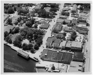 Primary view of object titled '[Aerial View of Downtown Orange, Texas]'.