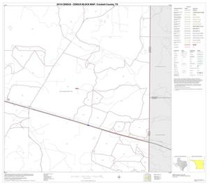 Primary view of object titled '2010 Census County Block Map: Crockett County, Block 19'.