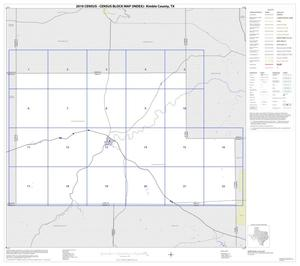 Primary view of object titled '2010 Census County Block Map: Kimble County, Index'.