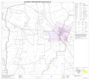 Primary view of object titled '2010 Census County Block Map: Angelina County, Block 13'.