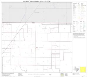Primary view of object titled '2010 Census County Block Map: Hutchinson County, Block 3'.