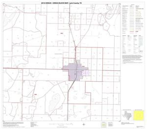 Primary view of object titled '2010 Census County Block Map: Lynn County, Block 5'.