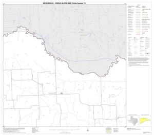 Primary view of object titled '2010 Census County Block Map: Delta County, Block 4'.