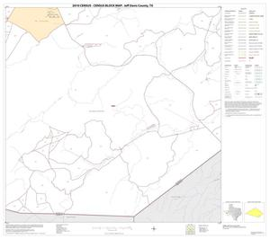 Primary view of object titled '2010 Census County Block Map: Jeff Davis County, Block 28'.