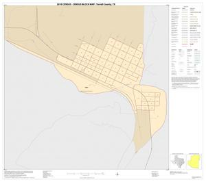 Primary view of object titled '2010 Census County Block Map: Terrell County, Inset A01'.