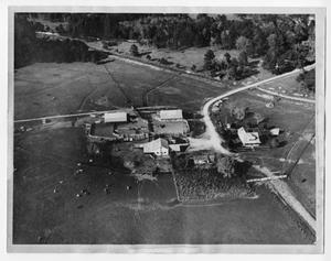 [Aerial view of farm]