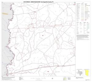Primary view of object titled '2010 Census County Block Map: San Augustine County, Block 4'.