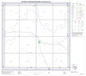 Primary view of object titled '2010 Census County Block Map: Stonewall County, Index'.