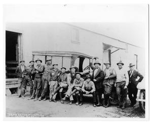Primary view of object titled '[13 men in front of truck]'.