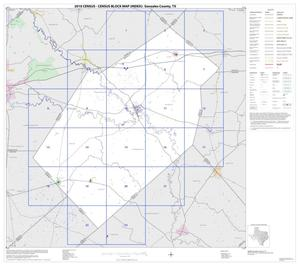 Primary view of object titled '2010 Census County Block Map: Gonzales County, Index'.