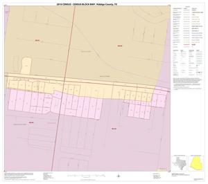 Primary view of object titled '2010 Census County Block Map: Hidalgo County, Inset E01'.