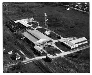 [Aerial view of Del Dixie canning plant]
