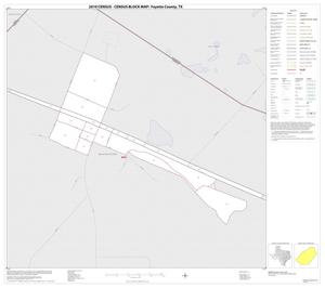 Primary view of object titled '2010 Census County Block Map: Fayette County, Inset A01'.