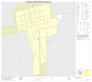 Primary view of object titled '2010 Census County Block Map: Rusk County, Inset G01'.