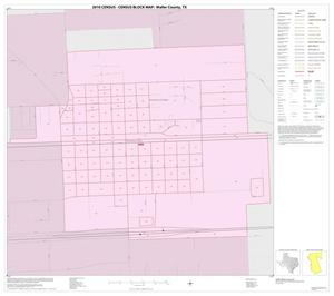 Primary view of object titled '2010 Census County Block Map: Waller County, Inset D01'.