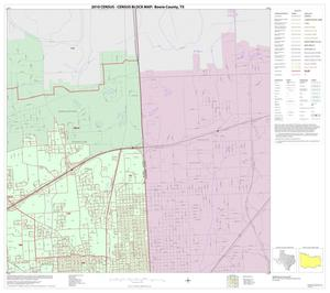 Primary view of object titled '2010 Census County Block Map: Bowie County, Inset J02'.