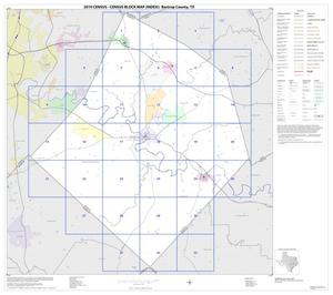 Primary view of object titled '2010 Census County Block Map: Bastrop County, Index'.