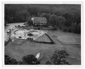 Primary view of object titled '[Swimming pool construction]'.