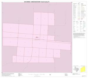 Primary view of object titled '2010 Census County Block Map: Fannin County, Inset F01'.