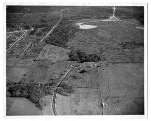 Primary view of object titled '[Aerial view of Pinehurst, Texas]'.