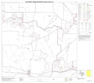 Primary view of object titled '2010 Census County Block Map: Coleman County, Block 10'.