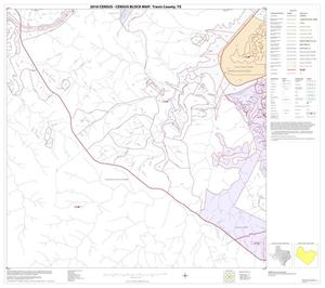 Primary view of object titled '2010 Census County Block Map: Travis County, Block 22'.