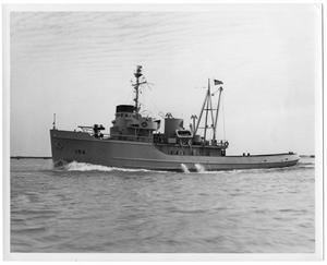 Primary view of object titled '[LSC 143' Ocean Tug]'.