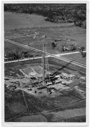 Primary view of object titled '[Aerial View of an Oil Well]'.