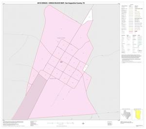 Primary view of object titled '2010 Census County Block Map: San Augustine County, Inset B01'.