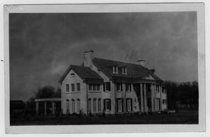Primary view of object titled '[A. Deussen House, Deussendale, located west of Ponder]'.