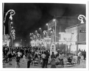 Primary view of object titled '[Christmas Celebration on 5th Street]'.