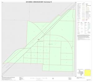 Primary view of object titled '2010 Census County Block Map: Terry County, Inset C01'.