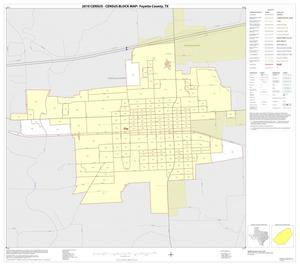 Primary view of object titled '2010 Census County Block Map: Fayette County, Inset K01'.