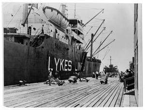 Primary view of object titled '[Port of Orange - Ship Lykes Line]'.