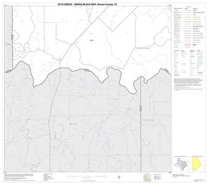 Primary view of object titled '2010 Census County Block Map: Brown County, Block 18'.