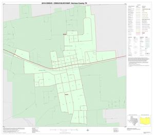 Primary view of object titled '2010 Census County Block Map: Harrison County, Inset D01'.