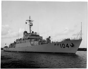 Primary view of object titled '[Navy Ship - PF 104]'.