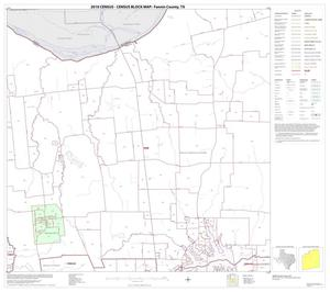 Primary view of object titled '2010 Census County Block Map: Fannin County, Block 5'.