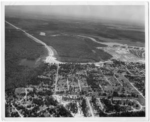 Primary view of object titled '[Aerial Photograph of Residential Orange, Texas]'.