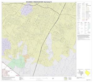 Primary view of object titled '2010 Census County Block Map: Hays County, Block 6'.