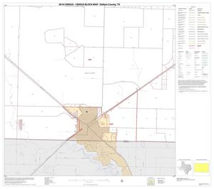 Primary view of object titled '2010 Census County Block Map: Dallam County, Block 22'.
