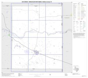 Primary view of object titled '2010 Census County Block Map: Childress County, Index'.