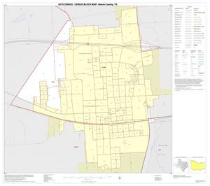 Primary view of object titled '2010 Census County Block Map: Bowie County, Inset B01'.
