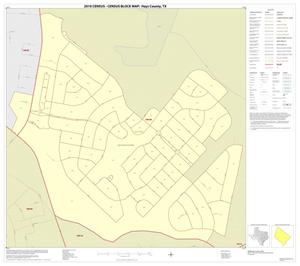 Primary view of object titled '2010 Census County Block Map: Hays County, Inset D01'.
