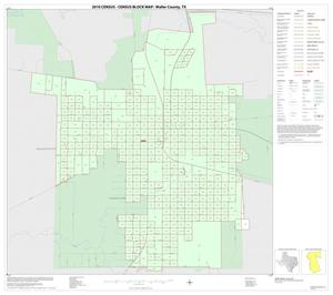 Primary view of object titled '2010 Census County Block Map: Waller County, Inset A01'.