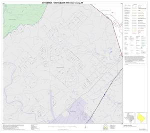 Primary view of object titled '2010 Census County Block Map: Hays County, Block 16'.