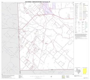 Primary view of object titled '2010 Census County Block Map: Hunt County, Block 21'.